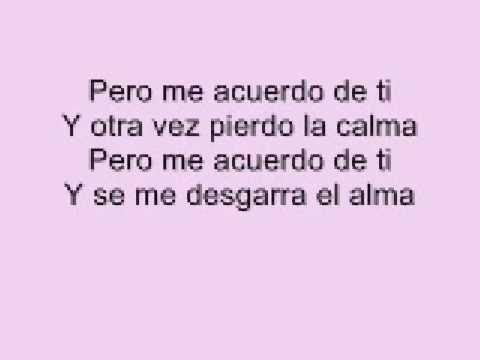 Christina Aguilera - Me Acuerdo de ti