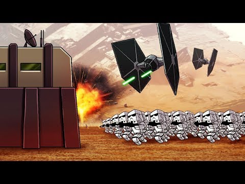 Minecraft | STAR WARS BASE CHALLENGE - First Order Attacks! (Star Wars Movie)