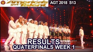 RESULTS QUARTERFINALS 1  Junior New System Angel City Chorale Mochi America