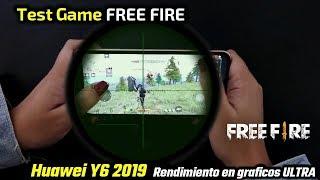 Free Fire vs Huawei Y6 2019 | Rendimiento en graficos ULTRA🔥
