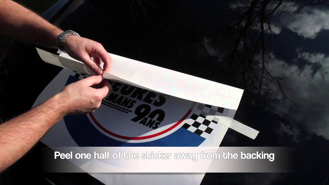 How To Apply Large Self Adhesive Sticker That Has Been