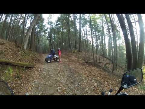 ATV's trashing Nepaug   10-20-2013