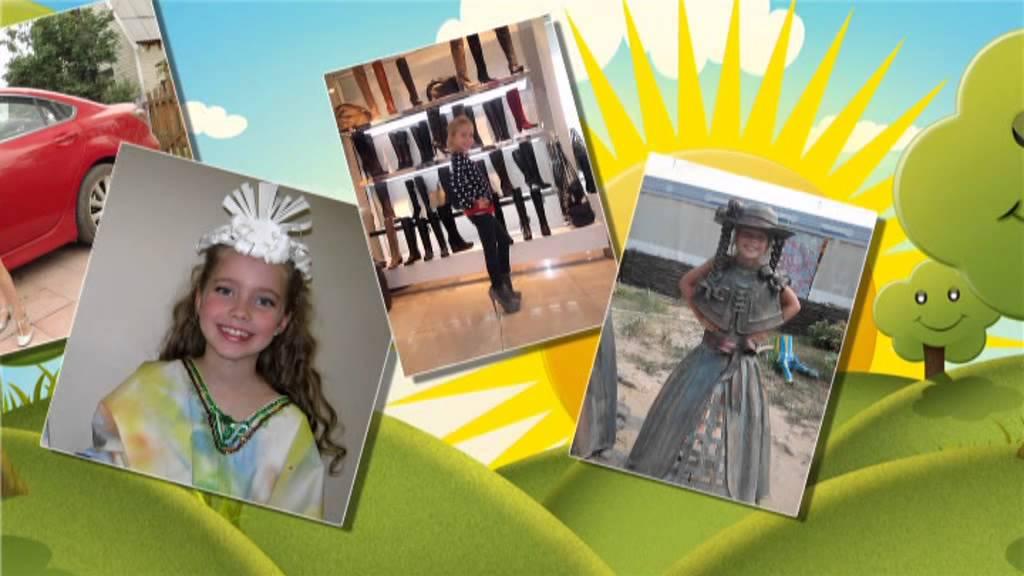 Визитная карточка на детский конкурс красоты о себе
