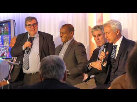 Alan Pardew speaking at the 1990 FA Cup Final anniversary dinner