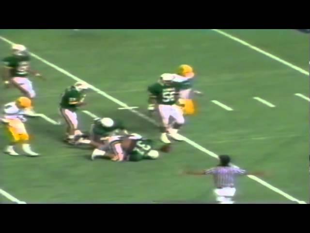 Oregon WR Terry Obee 12 yard gain on screen vs. Hawaii 12-03-1988