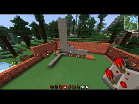 Minecraft Tutorial de Redstone: Generador de Muros HD 720p