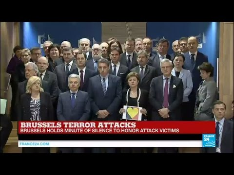 Brussels terror attacks: Minute of silence held to honor attack victims
