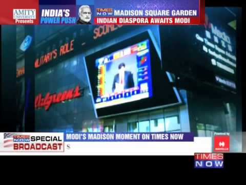 Narendra Modi's Madison moment on TIMES NOW