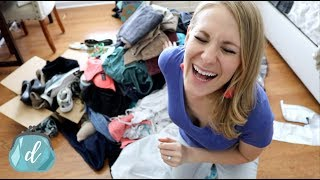 I WENT FULL KONMARI DECLUTTER! 😱 What worked in my closet!