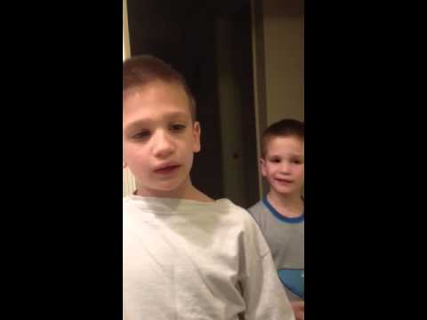 The boys singing