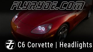 Chevy C6 Corvette LED Angel Eye Headlights by FlyRyde.com