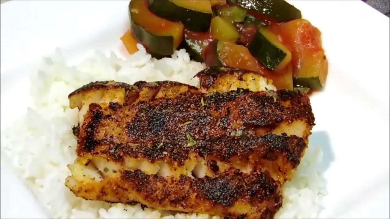 How to make cajun seasoning and blackened fish youtube for Blackening seasoning for fish