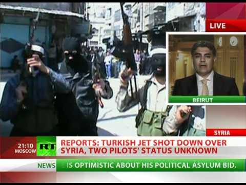 Turkish fighter jet shot down over Syria, 2 pilots' status unknown