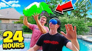 BLINDFOLDED FOR 24 HOURS CHALLENGE!