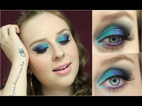 Maquiagem Colorida e Sofisticada !