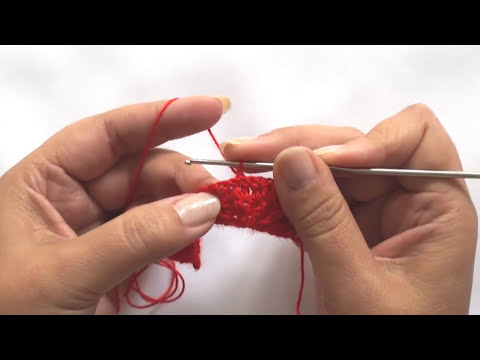 Crochet : Punto Abanico en Relieve.  Parte 1 de 3
