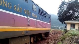 Passenger train AROANG KJH943 run out of tunnel