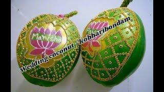 DIY wedding kobbaribondam | coconut decoration for wedding ceremony