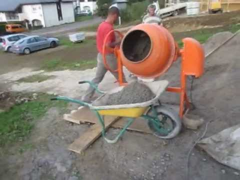 R alisation d 39 une b tonni re de b ton youtube - Dosage beton pelle sac 35 kg ...