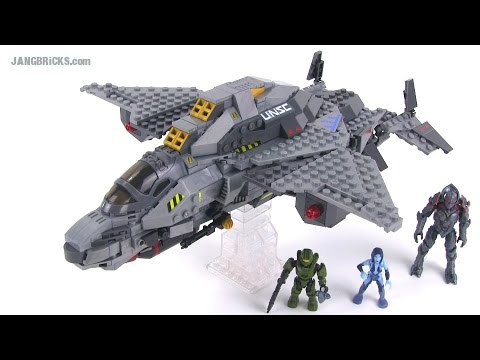 Mega Bloks Halo UNSC Broadsword Midnight Strike review! 97380