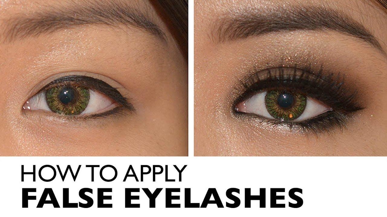 How to Apply False Eyelashes - Easiest Way! Tips & Tricks ...