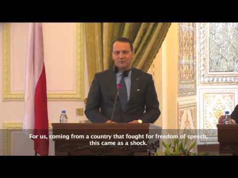 Polish Foreign Minister: Radoslaw Sikorski Slams Iran over Internet Filtering During his Visit