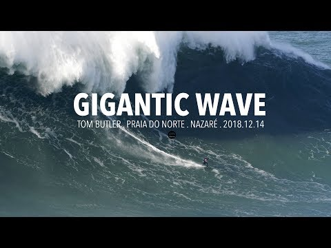 Gigantic Wave: Tom Butler @ Nazaré, Portugal - 2018.12.14 [Surf, Big Waves, 4K]
