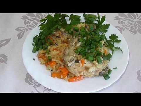 Курица с рисом на сковороде Как приготовить