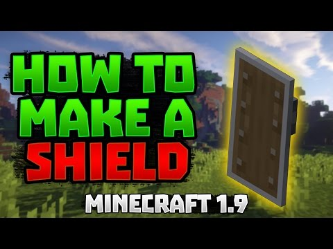 Minecraft Tutorial 1.9 'How To Make And Decorate A Shield'