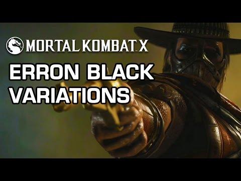 Erron Black Variations Official Breakdown - Mortal Kombat X video