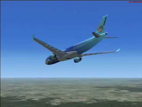 Flight Simulator X &#8211; Full approach Miami to Atlanta in Airbus 350