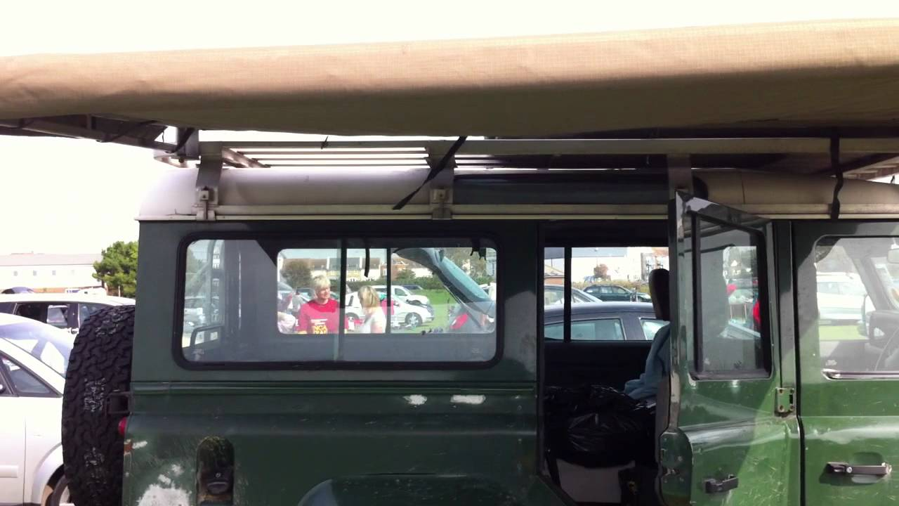 Hannibal 2.4m Roof Rack and Awning on a Land Rover ...