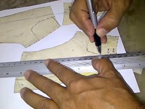 Aprende Como se despieza o construye el Patron o Trepa del Mocasin Tubular Recto