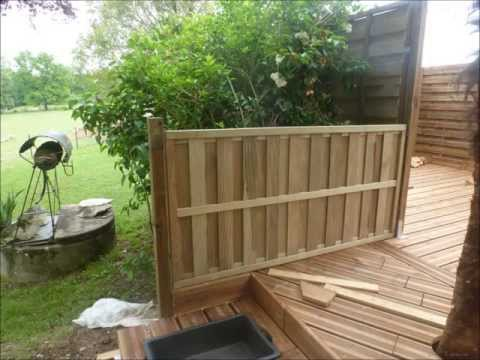 terrasse en bois sur terrain non stabilis. Black Bedroom Furniture Sets. Home Design Ideas
