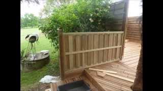 Terrasse en bois sur terrain non stabilis - Comment construire une niche pour chien gratuit ...