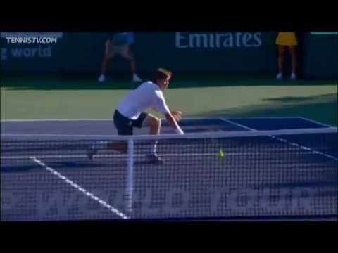 Ryan Harrison Nails Dive Volley Vs Raonic In Indian Wells
