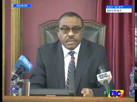 Ethiopia's PM Hailemariam Desalegn speech at parliament