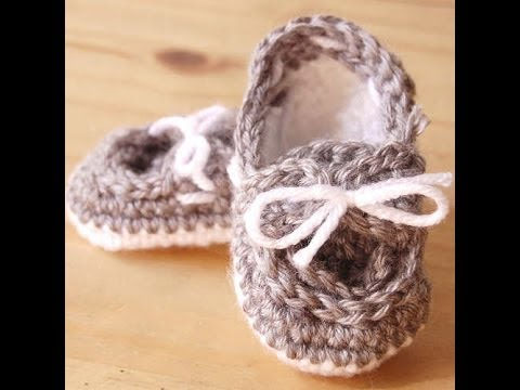 Crochet Baby Boat Shoes Free Pattern