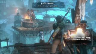 Rise of the Tomb Raider Walkthrough - Trebuchet Level - conquer the village