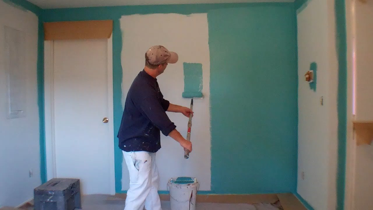 Interior painting step 3 painting the walls youtube for Painting inside a house