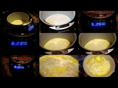 Каши молочные в мультиварке поларис рецепты пошагово в