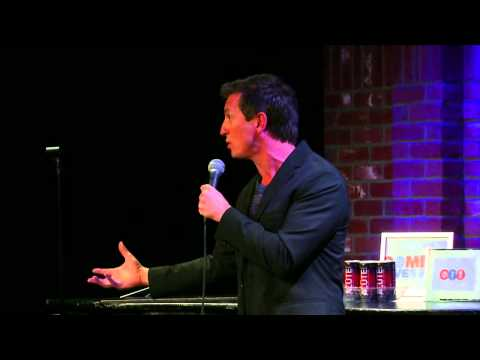 JOKE: Rove McManus Doesn't Understand American Tipping at Comedy Gives Back 2013