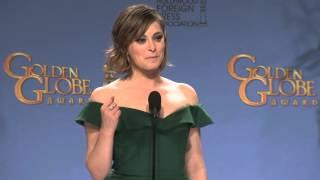 Rachel Bloom: Golden Globe Awards Backstage Interview (2016)