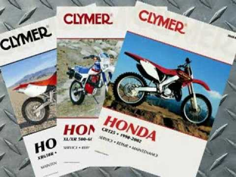 Clymer Manuals Honda Dirt Bike Motocross MX Off Road Dual Sport Motorcycle Repair Manual Video