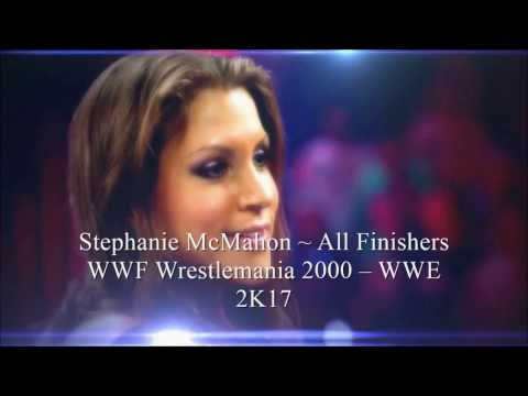 Stephanie McMahon  ~ All Finishers in WWE Video Games (WWF Wrestemania 2000 – WWE 2K17) thumbnail