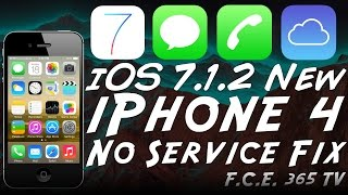 How to fix iPhone 4 No Service After iCloud Bypass on iOS 7.1.2 (GSM)