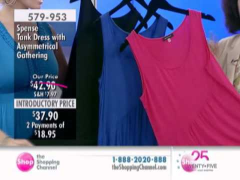 Spense Apparel Tank Dress With Asymmetrical Gathering At The Shopping Channel 579953