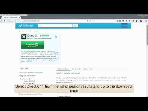 How to download DirectX 11