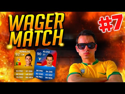 Fifa 14 Wager Match #7 : Cristiano Ronaldo & Klose (record Breaker) !! [facecam] Hd video