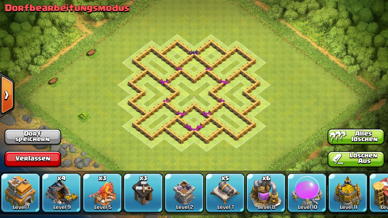 Clash of clans beste verteidigung rathaus level 7 farming base - Free ...